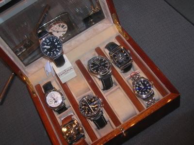 Exclusieve horlogekist voor 8 horloges.
